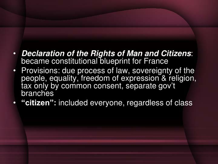 Declaration of the Rights of Man and Citizens