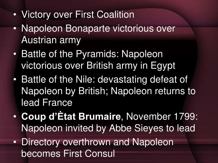 Victory over First Coalition
