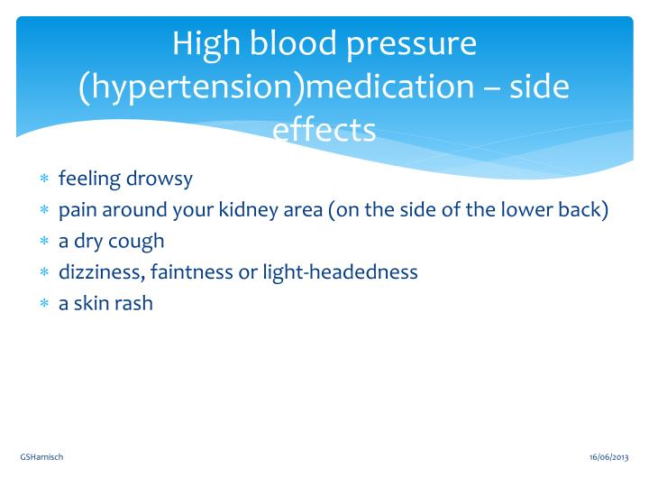 Hypertension medication sexual side effects