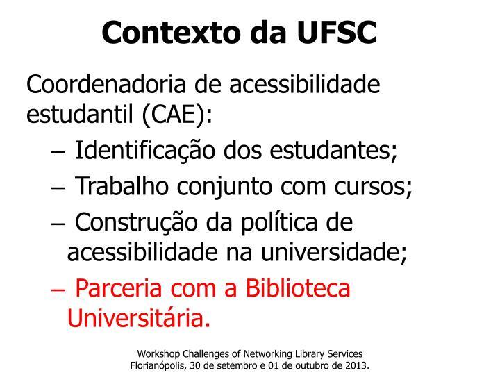 Contexto da UFSC
