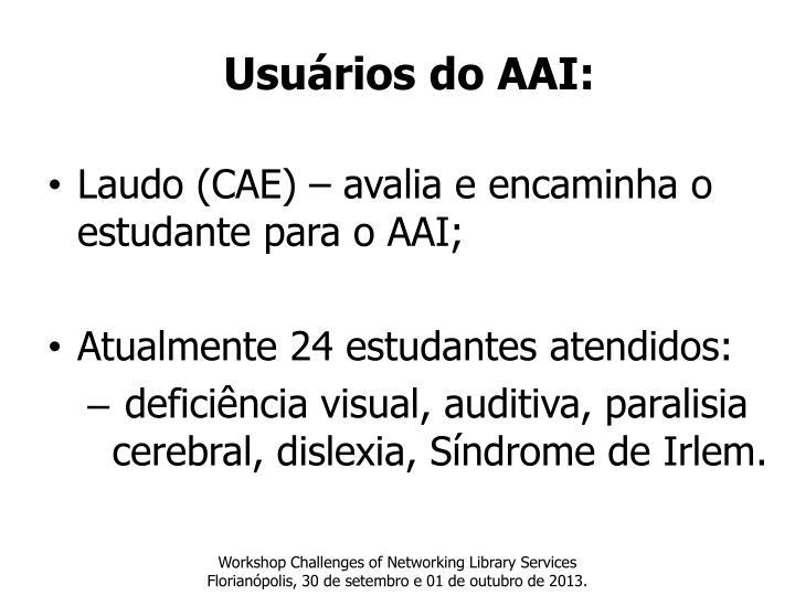 Usuários do AAI: