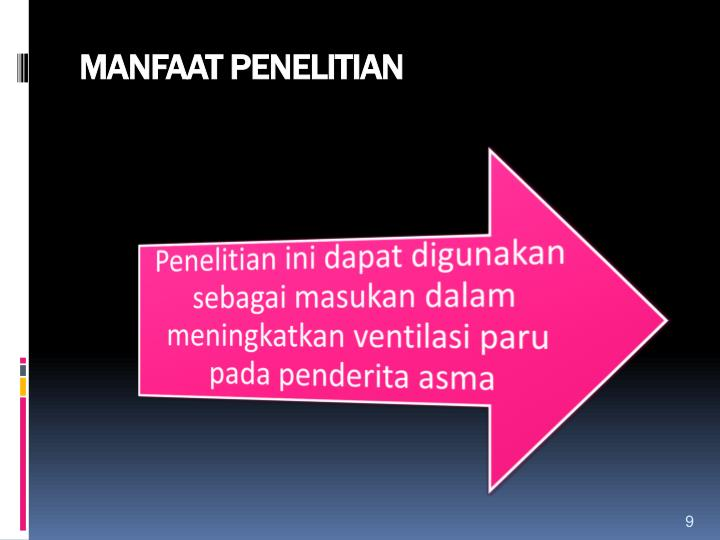 MANFAAT PENELITIAN