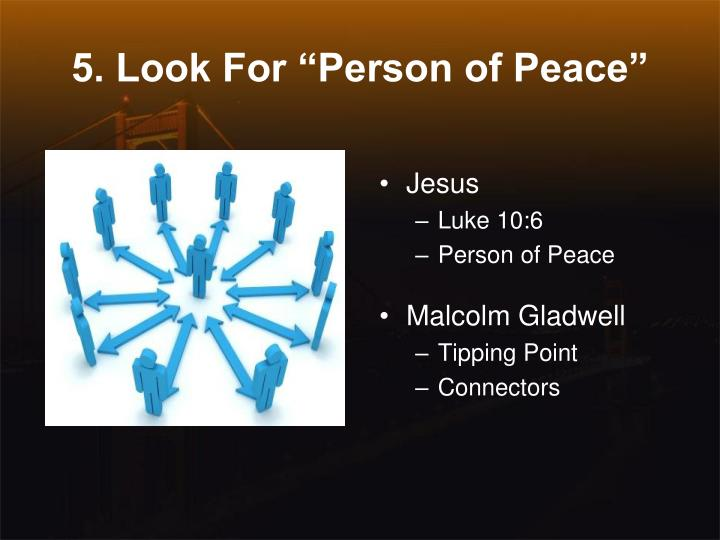 "5. Look For ""Person of Peace"""