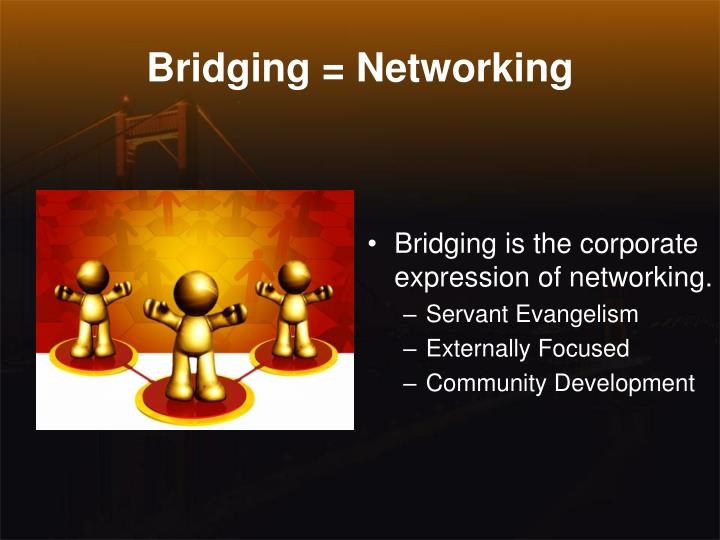 Bridging = Networking