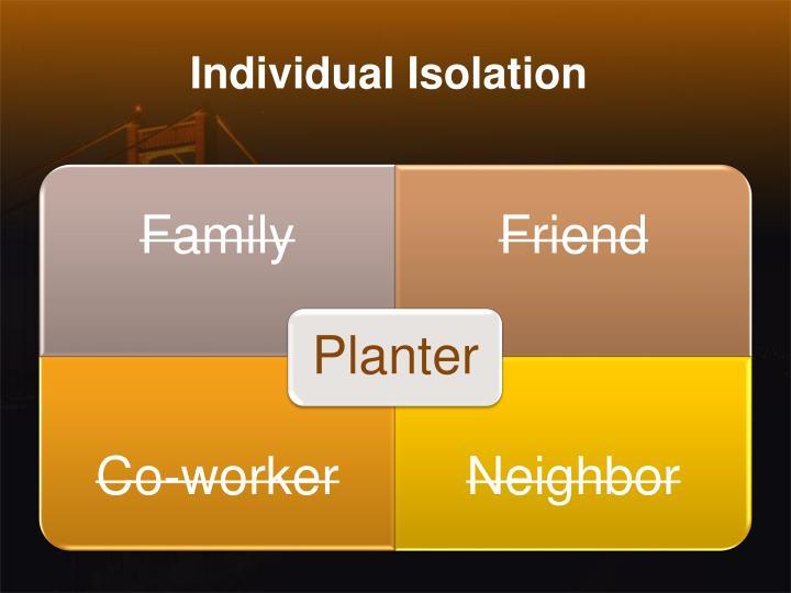 Individual Isolation