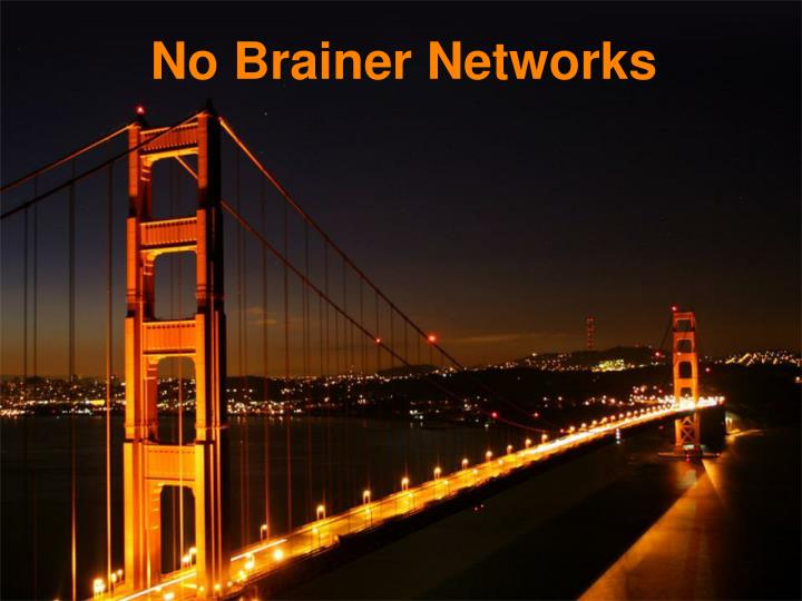 No Brainer Networks