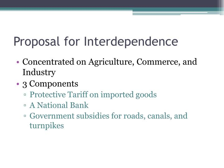 Proposal for Interdependence