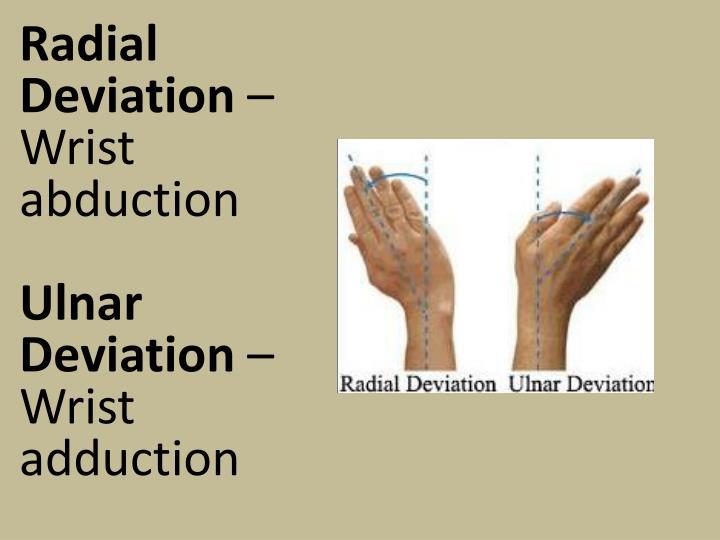 Radial Deviation