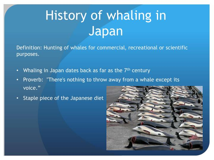 History of whaling in japan