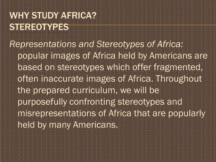 Representations and Stereotypes of Africa:
