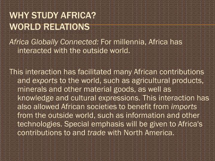 Africa Globally Connected: