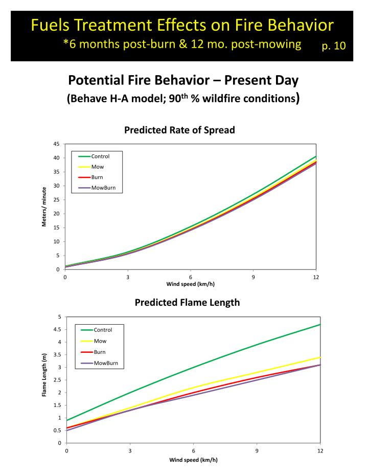 Fuels Treatment Effects on Fire Behavior