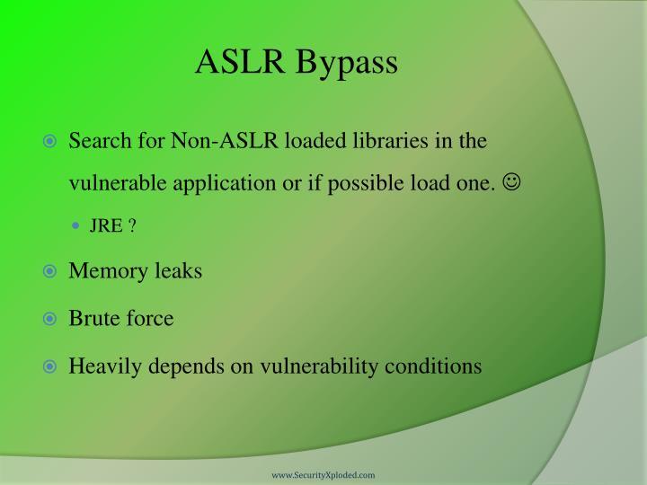 ASLR Bypass
