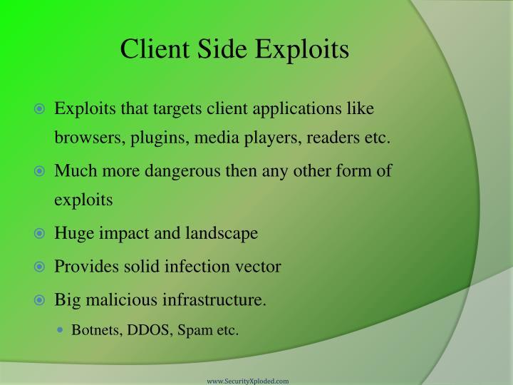 Client Side Exploits