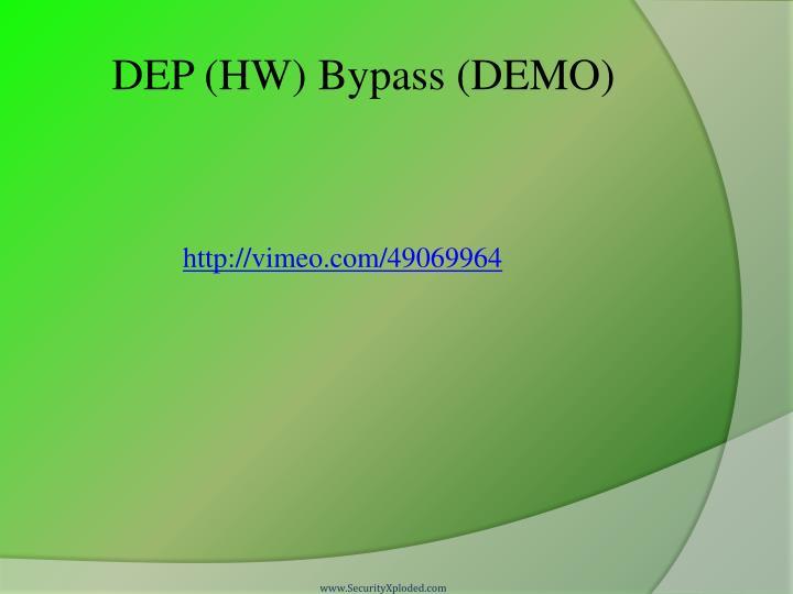 DEP (HW) Bypass (DEMO)