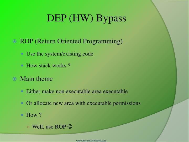 DEP (HW) Bypass