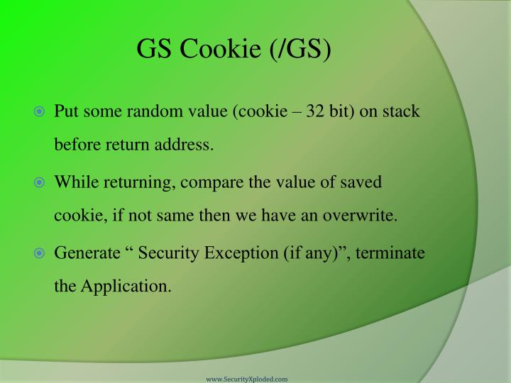 GS Cookie (/GS)
