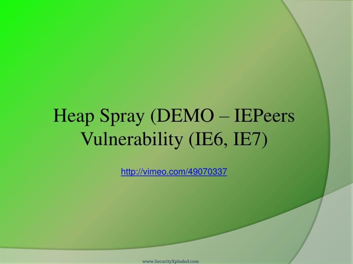 Heap Spray (DEMO –