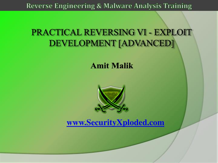 Practical reversing vi exploit development advanced