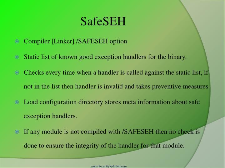 SafeSEH