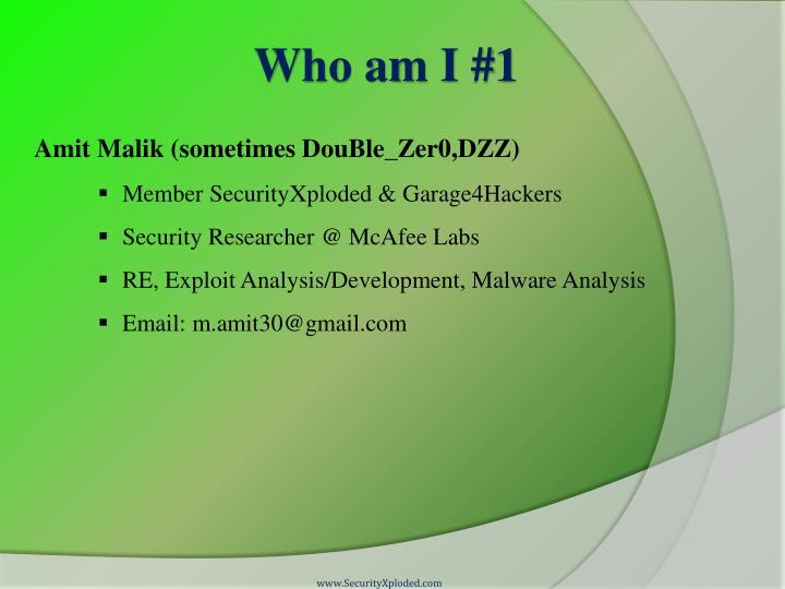 Who am I #1