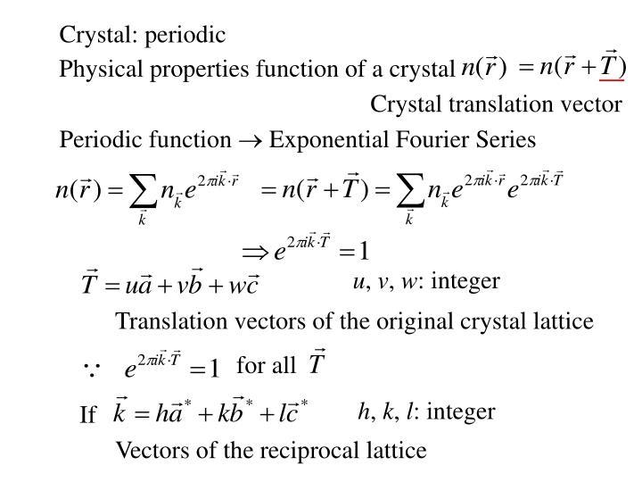 Crystal: periodic
