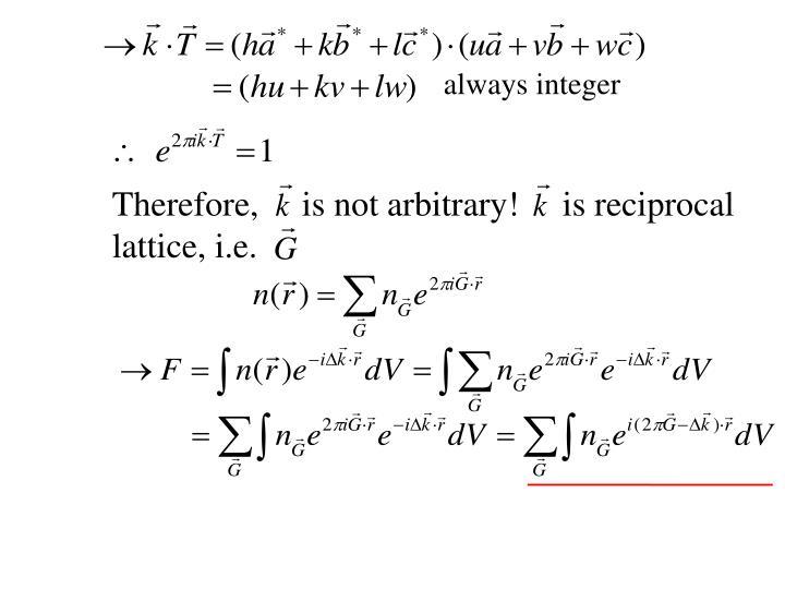 always integer