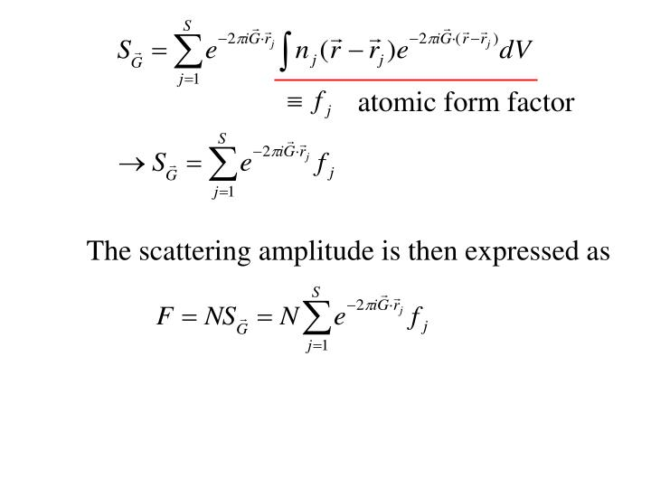 atomic form factor
