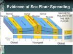 evidence of sea floor spreading