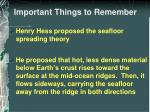 important things to remember1