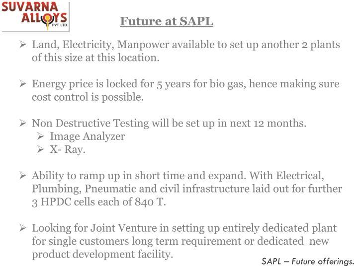 Future at SAPL