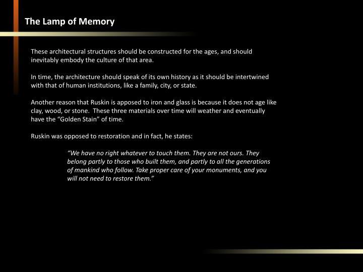 The Lamp of Memory