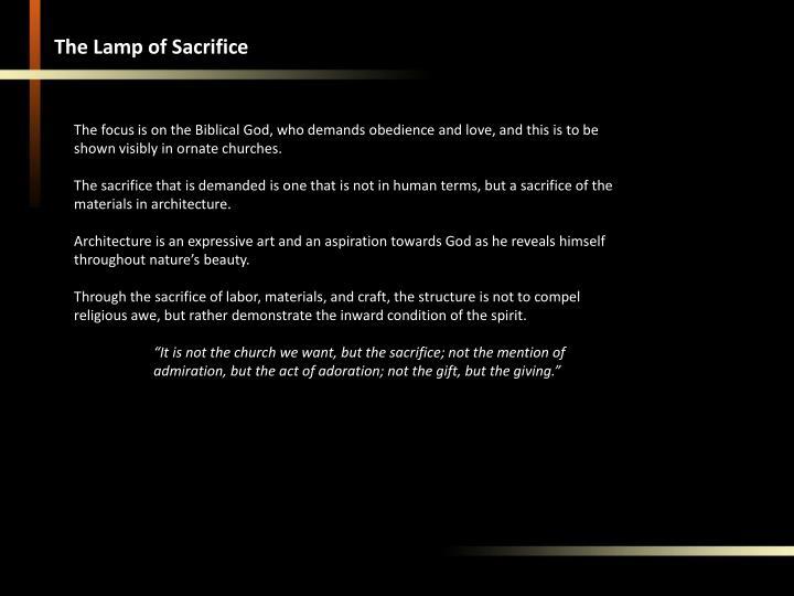 The Lamp of Sacrifice