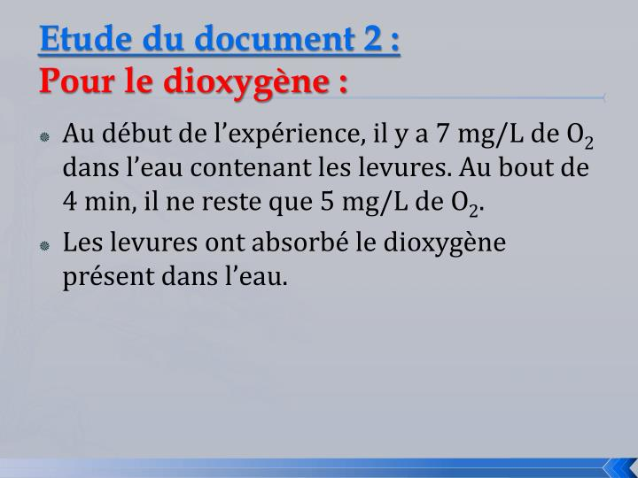 Etude du document 2 :