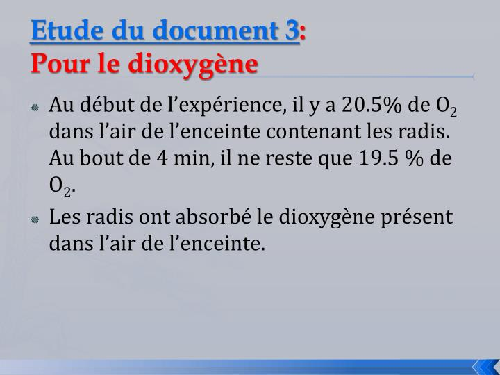 Etude du document 3