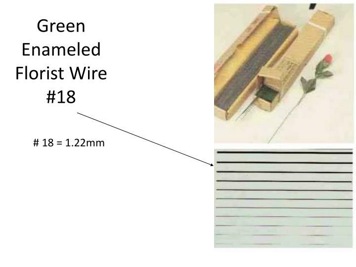Green Enameled Florist Wire #18