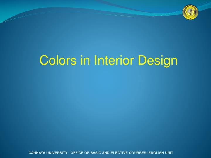 Colors in Interior Design