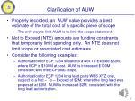 clarification of auw
