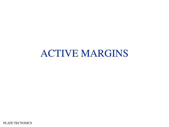 ACTIVE MARGINS