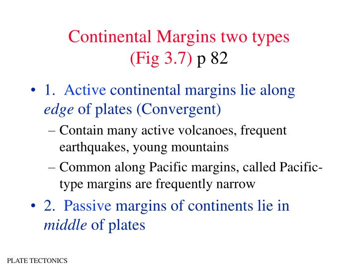 Continental Margins two types