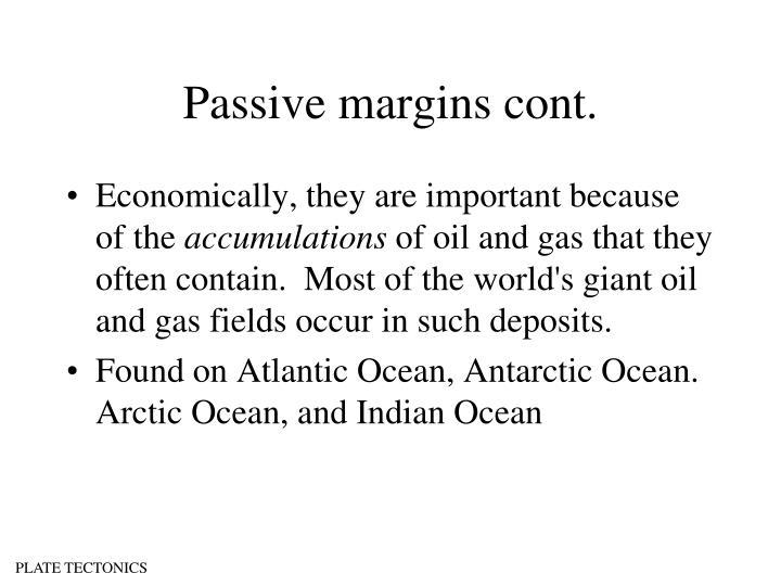 Passive margins cont.
