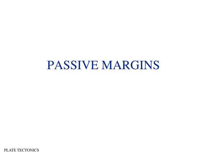 PASSIVE MARGINS