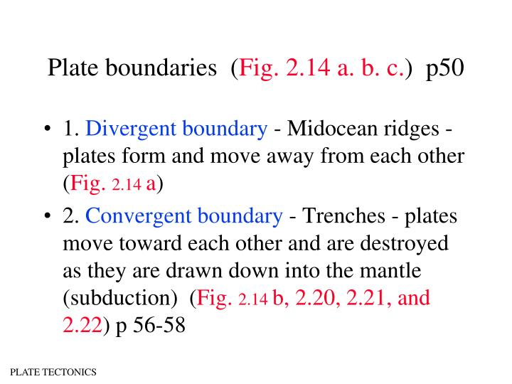 Plate boundaries  (