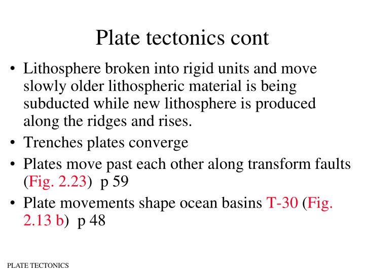 Plate tectonics cont