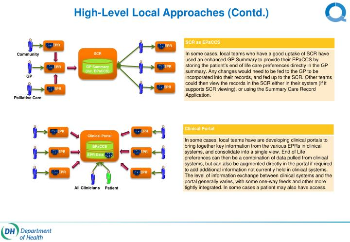 High-Level Local Approaches (Contd.)