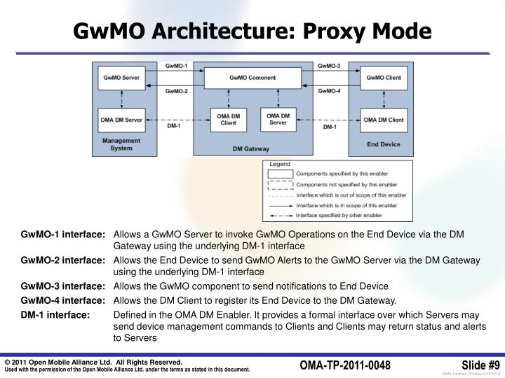 GwMO Architecture: Proxy Mode