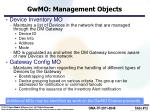gwmo management objects