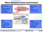 many devices in home environment