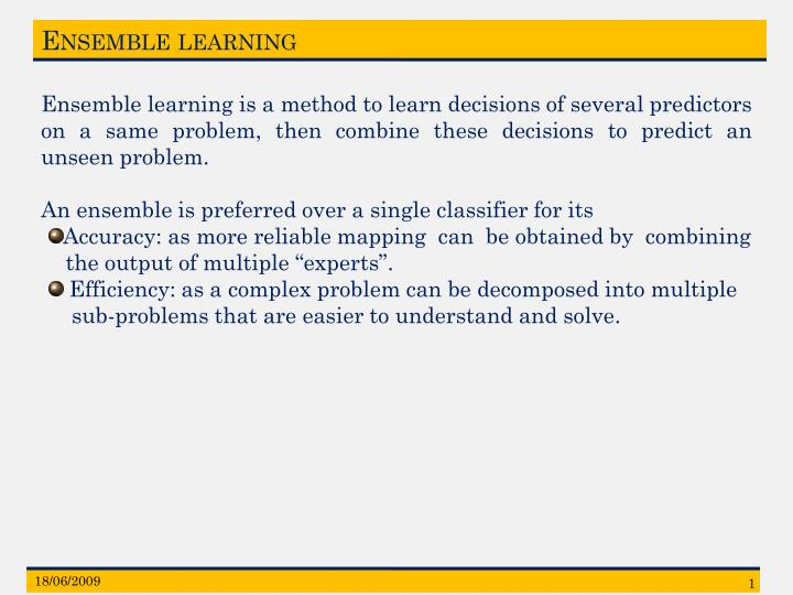Ensemble learning