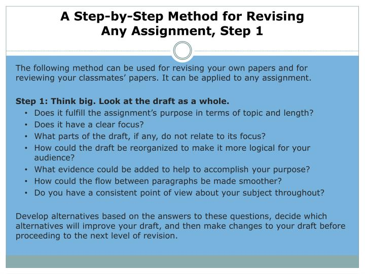 A Step-by-Step Method for Revising